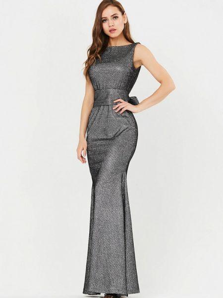 Вечернее платье осеннее серебряный Vika Ra