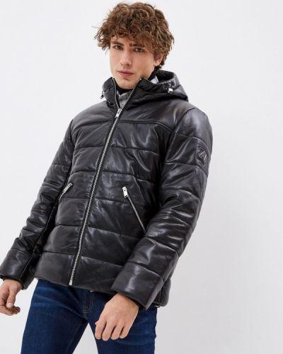 Черная кожаная куртка Zadig & Voltaire