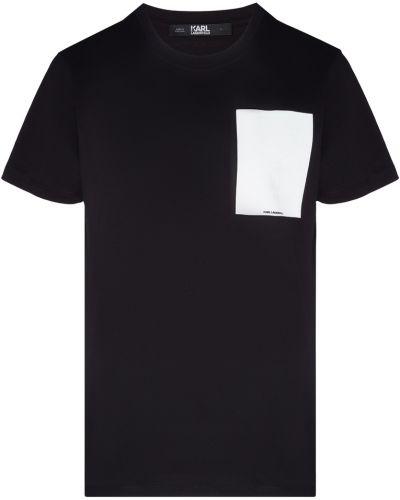 Футболка белая черная Karl Lagerfeld