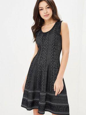 Прямое черное платье Rodier