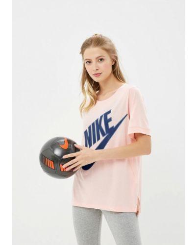 Розовое поло Nike