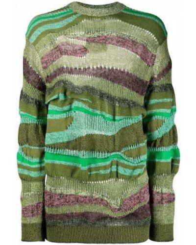 Fioletowy długi sweter oversize w paski Kenzo