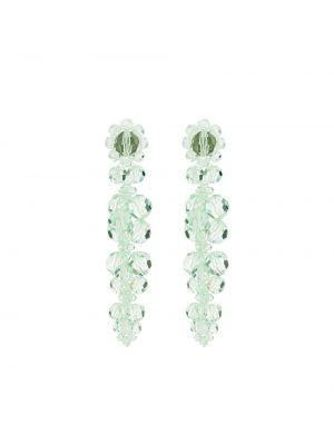 Акриловые зеленые серьги-гвоздики Simone Rocha