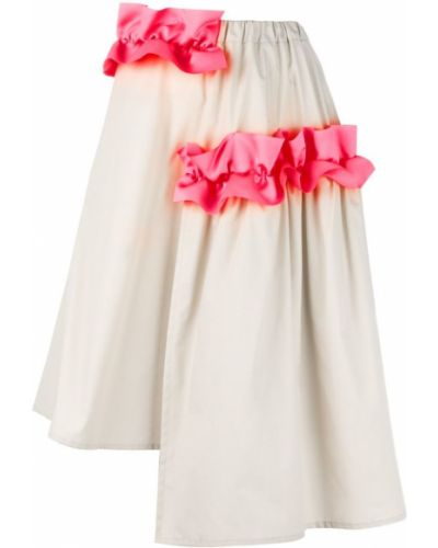 Асимметричная юбка - бежевая Paskal