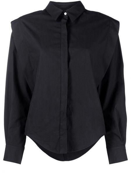 Хлопковая черная классическая рубашка с воротником Isabel Marant