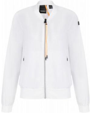 Приталенная белая куртка с капюшоном на молнии с карманами Icepeak