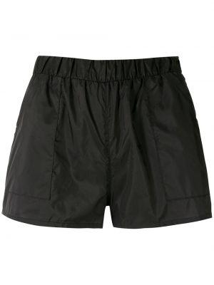 Нейлоновые черные шорты с карманами Uma Raquel Davidowicz