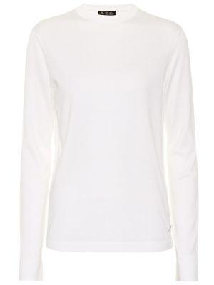 Шелковый свитер - белый Loro Piana