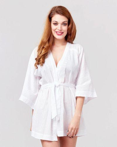 Домашний белый халат Ora