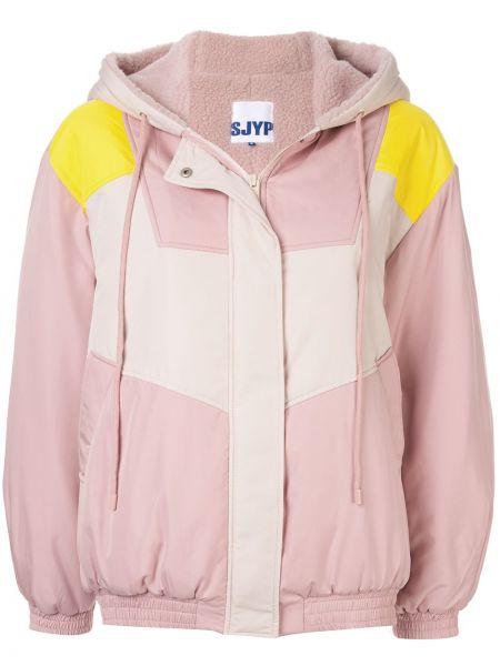 Розовая куртка свободного кроя на пуговицах Sjyp