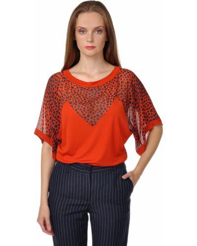 Блузка шелковая красная Jean Paul Gaultier