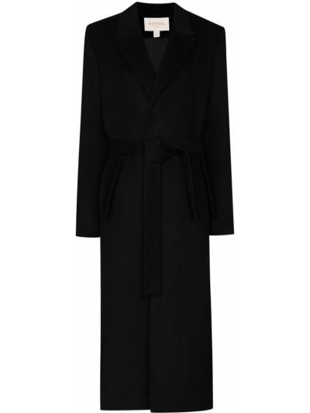 Черное шерстяное пальто Matériel
