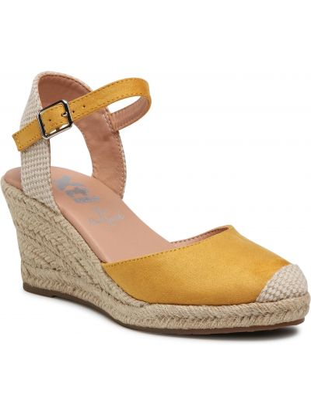 Żółte sandały espadryle Xti