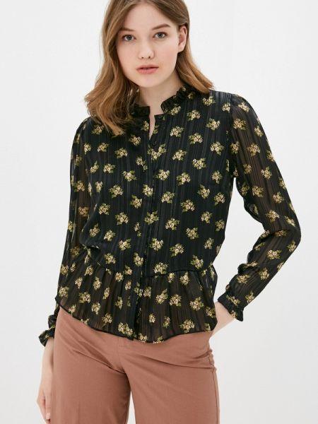 Блузка с длинным рукавом черная весенний Adl