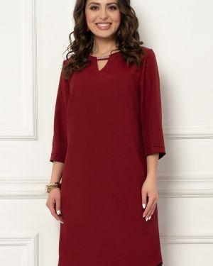 Платье на молнии с манжетами из габардина с вырезом Bellovera