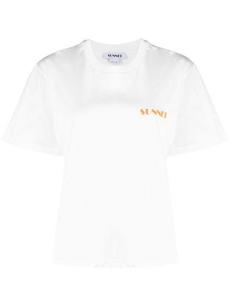 Biały bawełna bawełna klasyczna koszula Tibi