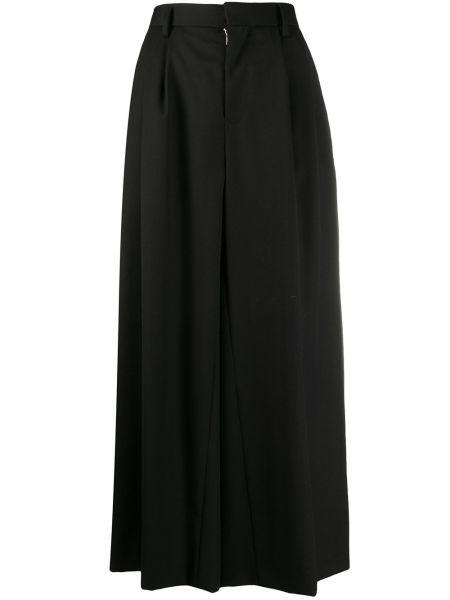 Черные свободные брюки свободного кроя со складками с высокой посадкой Comme Des Garçons Noir Kei Ninomiya
