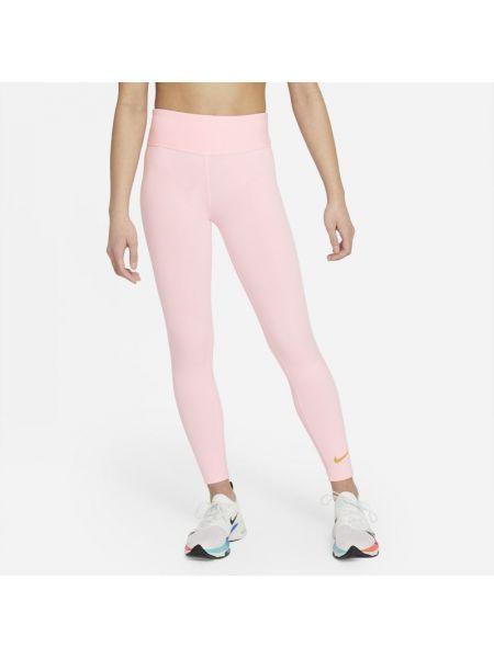 Różowe legginsy z wysokim stanem Nike