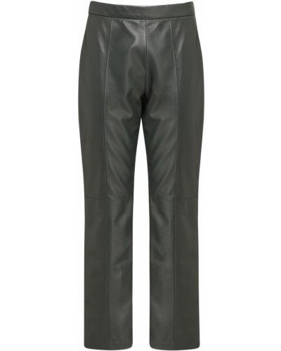 Кожаные брюки - зеленые Weekend Max Mara