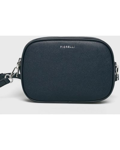 Кожаная сумка через плечо - синяя Fiorelli