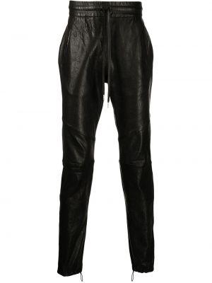 Spodnie skorzane - czarne John Elliott