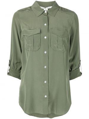 Зеленая длинная рубашка Veronica Beard