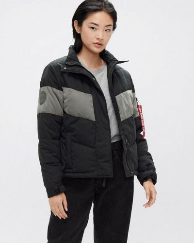 Теплая черная куртка Alpha Industries