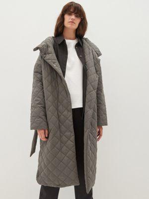 Зеленое пальто на подкладке Zarina