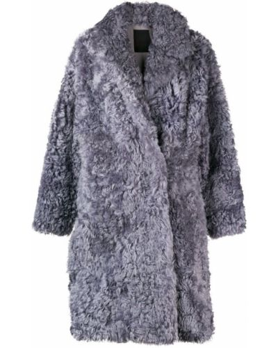 Длинное пальто с капюшоном свободного кроя Liska