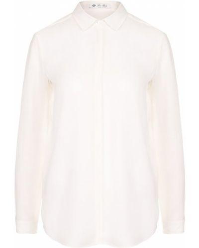 Блузка прямая шелковая Loro Piana