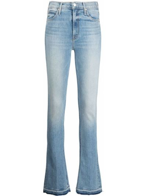 Облегающие синие зауженные джинсы классические Mother