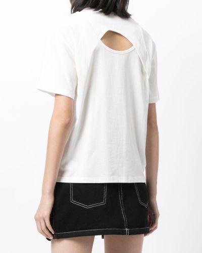 Белая футболка с круглым вырезом Dion Lee