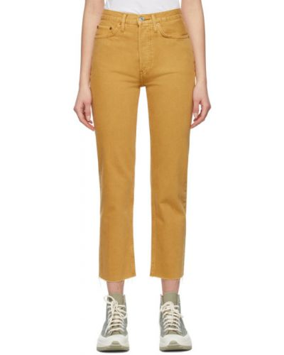 Синие прямые джинсы с карманами Re/done