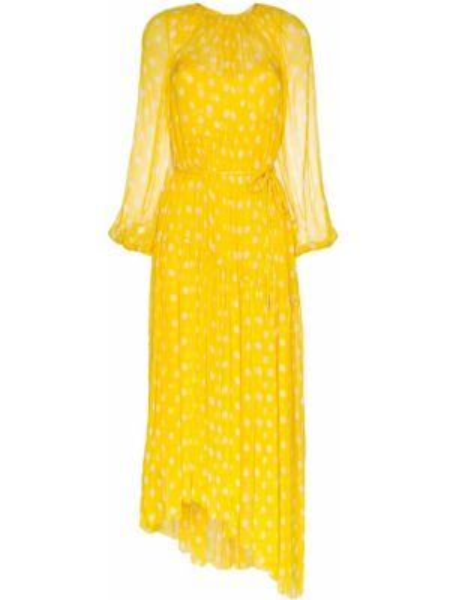 Платье в горошек желтый Zimmermann
