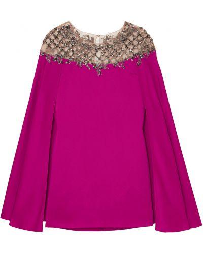 Платье мини из фатина Marchesa