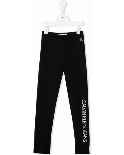 Legginsy - białe Calvin Klein Kids