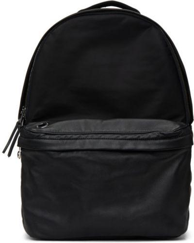Skórzany czarny plecak na laptopa z kieszeniami Diesel