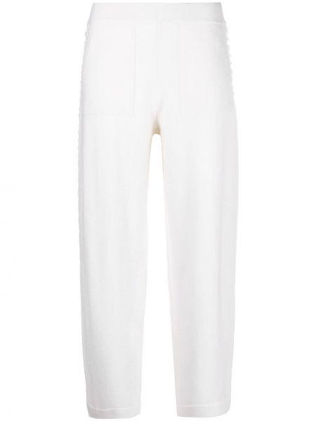 Кашемировые вязаные белые укороченные брюки Iris Von Arnim