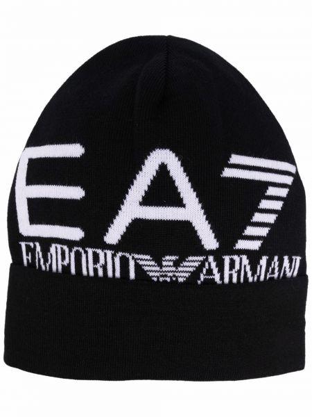 Czapka beanie - biała Ea7 Emporio Armani