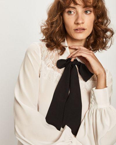 Блузка с длинным рукавом однотонная белая Liu Jo