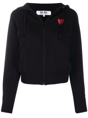 Черная куртка с капюшоном на молнии Comme Des Garçons Play