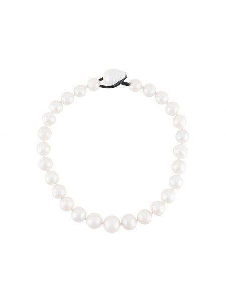 Biały naszyjnik perły Monies