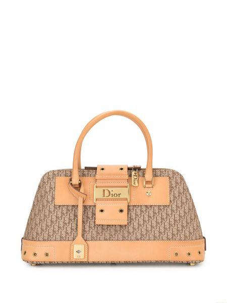 Кожаная коричневая сумка винтажная Christian Dior