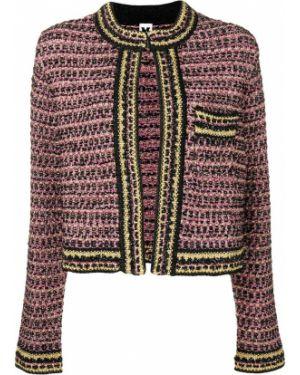 Прямой фиолетовый классический пиджак с карманами M Missoni