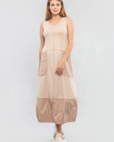 Повседневное бежевое платье Maxa