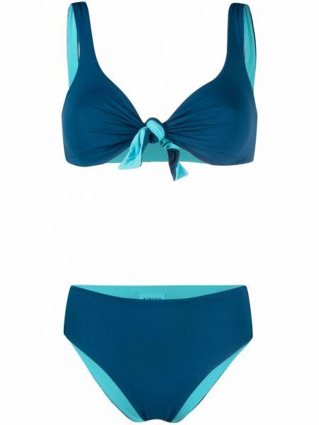 Niebieski bikini bez rękawów Fisico