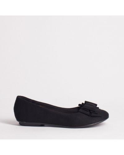 Текстильные черные балетки с подкладкой Moleca