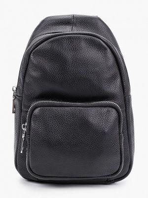 Кожаный черный городской рюкзак Moda Sincera