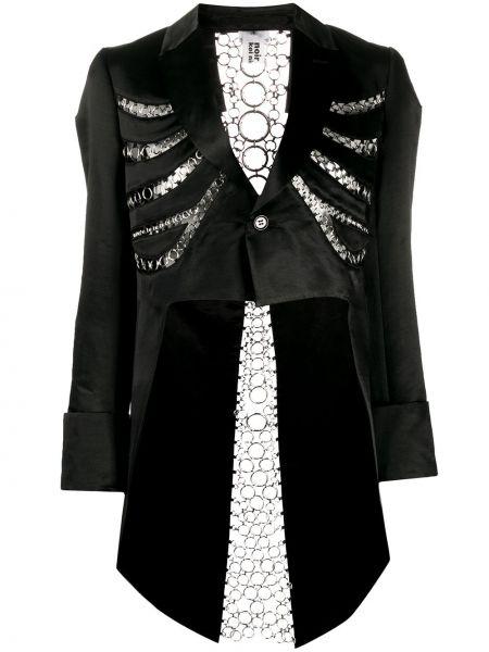 Асимметричная нейлоновая черная куртка с декоративной отделкой Comme Des Garçons Noir Kei Ninomiya
