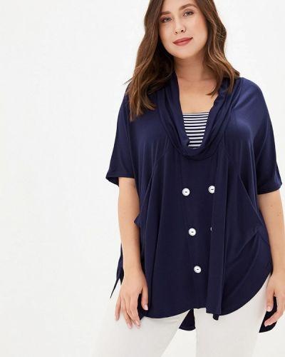 Блузка с коротким рукавом синяя весенний Артесса